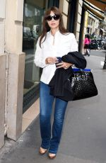 MONICA BELLUCCI Out Shopping in Paris 09/26/2017
