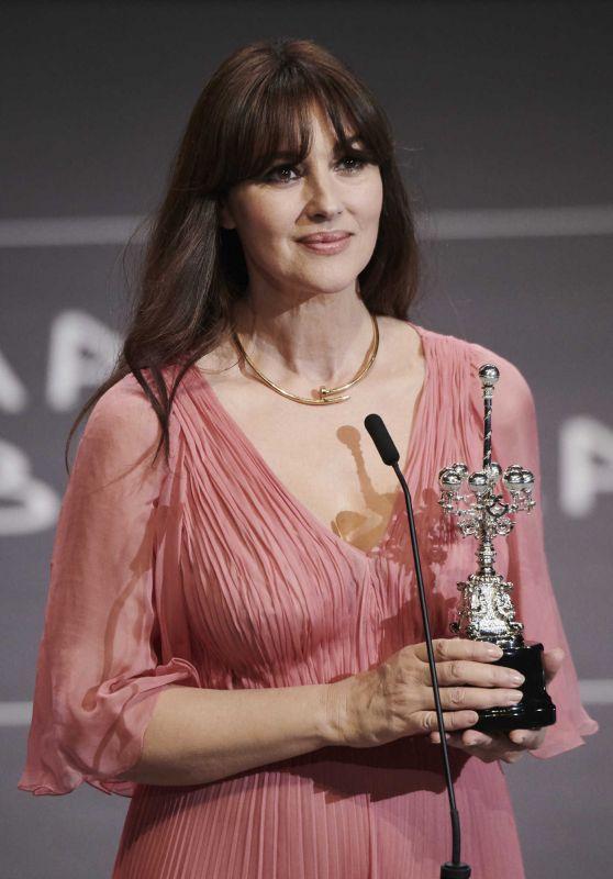 MONICA BELLUCCI Receives Donostia Award at 65th San Sebastian International Film Festival 09/27/2017