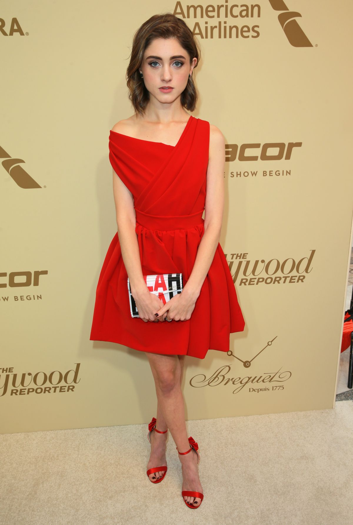 NATALIA DYER at Hollywood Reporter and Sag-aftra Nominees Night in Beverly Hills 09/14/2017