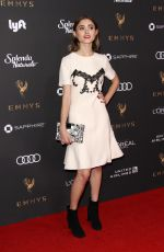 NATALIA DYER at Television Academy 69th Emmy Performer Nominees Cocktail Reception in Beverly Hills 09/15/2017