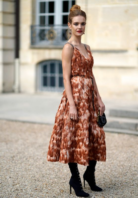 NATALIA VODIANOVA at Christian Dior Fashion Show in Paris 09/26/2017