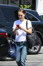 NATALIE PORTMAN in Jeans Out in Los Angeles 09/06/2017