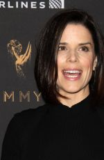 NEVE CAMPBELL at Television Academy 69th Emmy Performer Nominees Cocktail Reception in Beverly Hills 09/15/2017