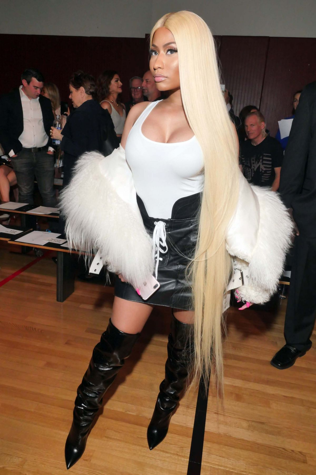 NICKI MINAJ at Monse Fashion Show at New York Fashion Week 09/08/2017