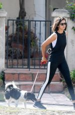 NINA DOBREV Out with Her Dog in Los Angeles 09/11/2017