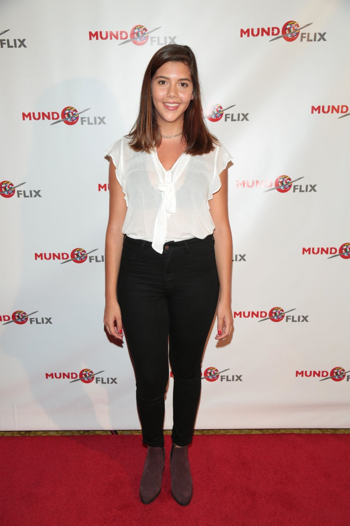 NUNU ROCA at MundoFlix Launch Party in Studio City 08/28/2017