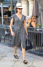 ODETTE ANNABLE Shopping at The Gap in Hollywood 09/27/2017