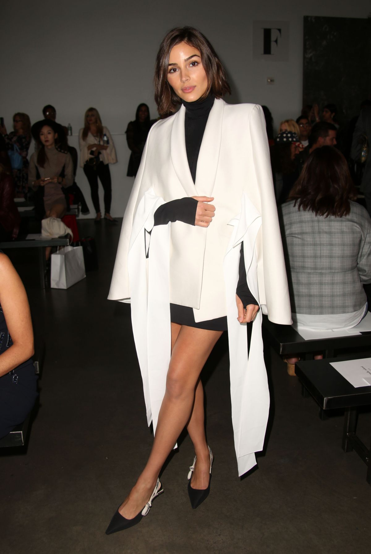 OLIVIA CULPO at Pamella Roland Fashion Show at New York Fashion Week 09/06/2017