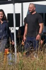 OLIVIA MUNN Breaks for Lunch on the Set in Pitt Meadows 09/28/2017