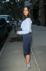 OLIVIA MUNN Leaves Her Hotel in New York 09/19/2017