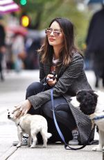 OLIVIA MUNN Out with Her Dogs in Vancouver 09/29/2017
