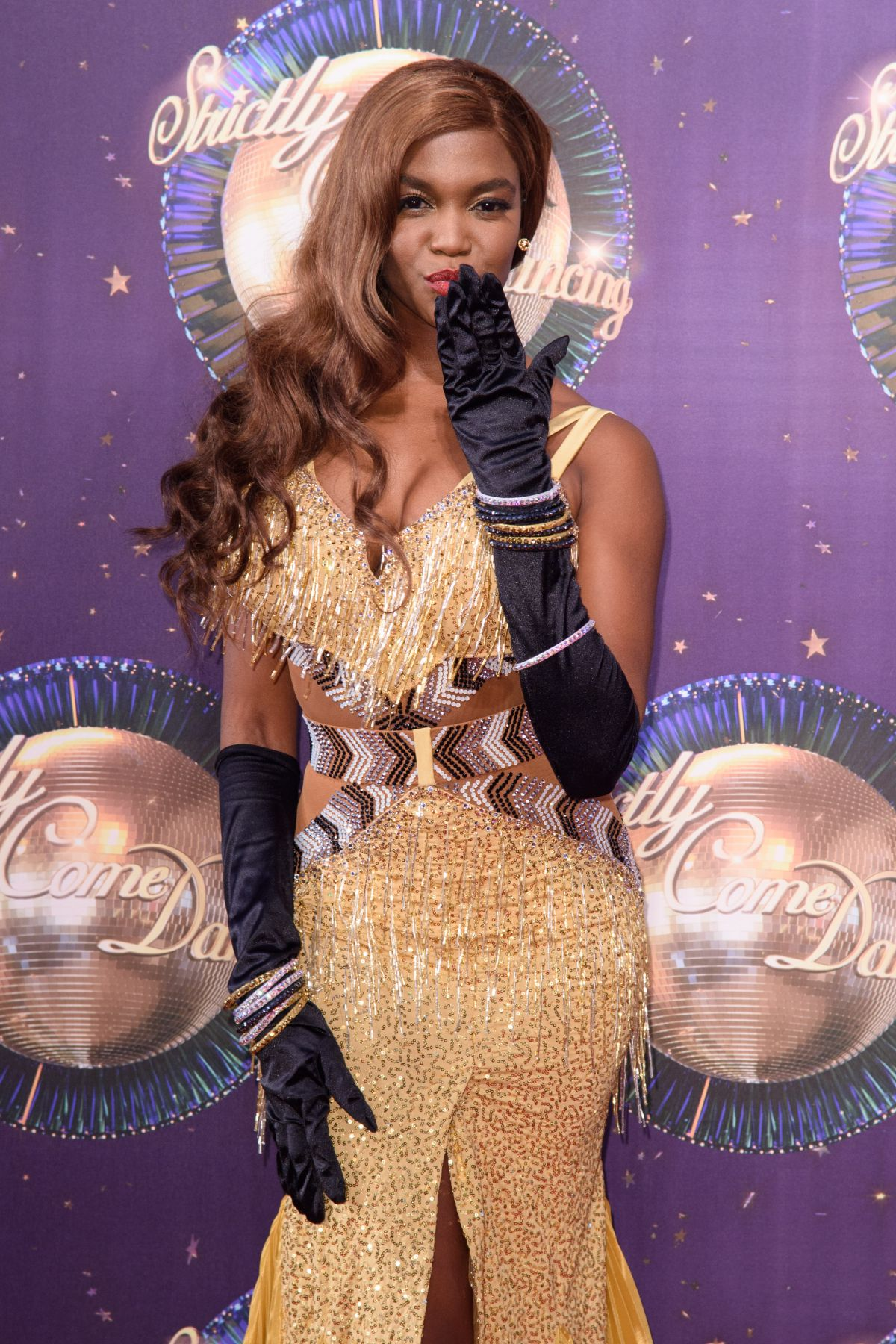 OTI MABUSE at Strictly Come Dancing 2017 Launch in London 08/28/2017