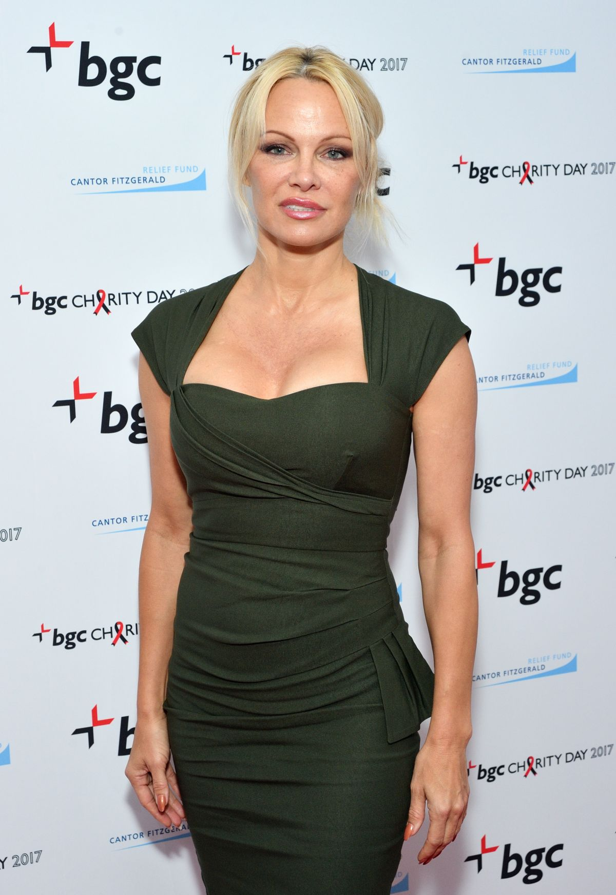 PAMELA ANDERSON at BGC Charity Day in London 09/11/2017