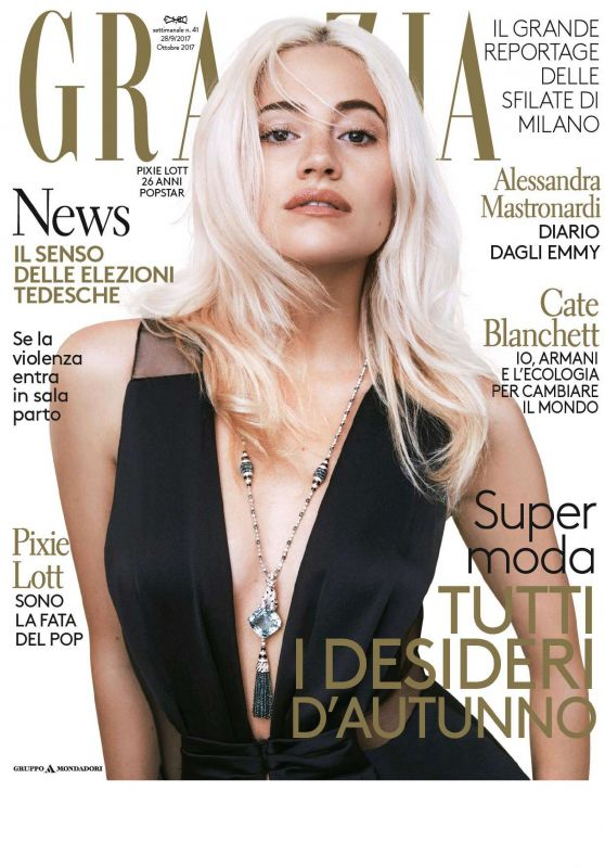 PIXIE LOTT in Grazia Magazine, Italy September 2017 Issue
