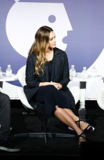 Pregnant JESSICA ALBA at Building a Brand in a Mobile First World at Advertising Week in New York 09/26/2017