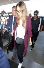 Pregnant JESSICA ALBA at Los Angeles International Airport 09/06/2017