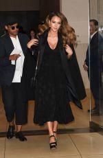 Pregnant JESSICA ALBA Leaves Her Hotel in New York 09/07/2017