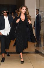 Pregnant JESSICA ALBA Leaves Her Hotel in New York 09/07/2017