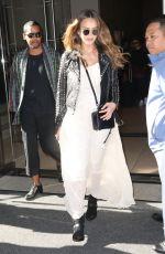 Pregnant JESSICA ALBA Leaves Her Hotel in New York 09/09/2017