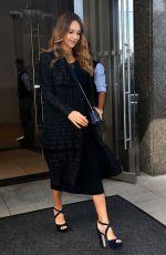 Pregnant JESSICA ALBA Leaves Her Hotel in New York 09/26/2017