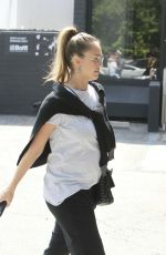 Pregnant JESSICA ALBA Out and About in Los Angeles 09/16/2017