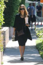 Pregnant JESSICA ALBA Out and About in West Hollywood 09/24/2017