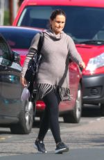 Pregnant SAM FAIERS Out in London 09/12/2017