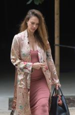 Prgnant JESSICA ALBA Out and About in Los Angeles 09/14/2017