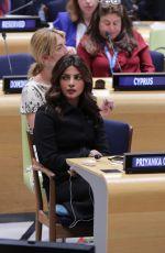 PRIYANKA CHOPRA at UN Hewaquarters in New Yprk 09/20/2017
