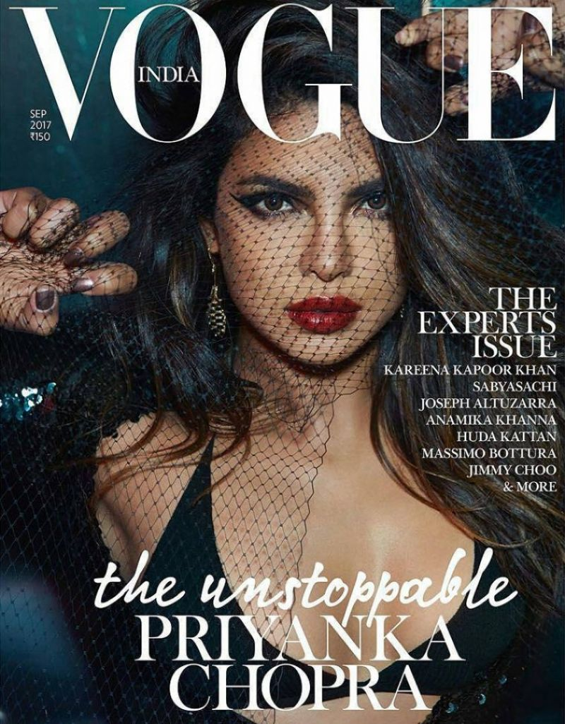 PRIYANKA CHOPRA in Vogue Magazine, India September 2017