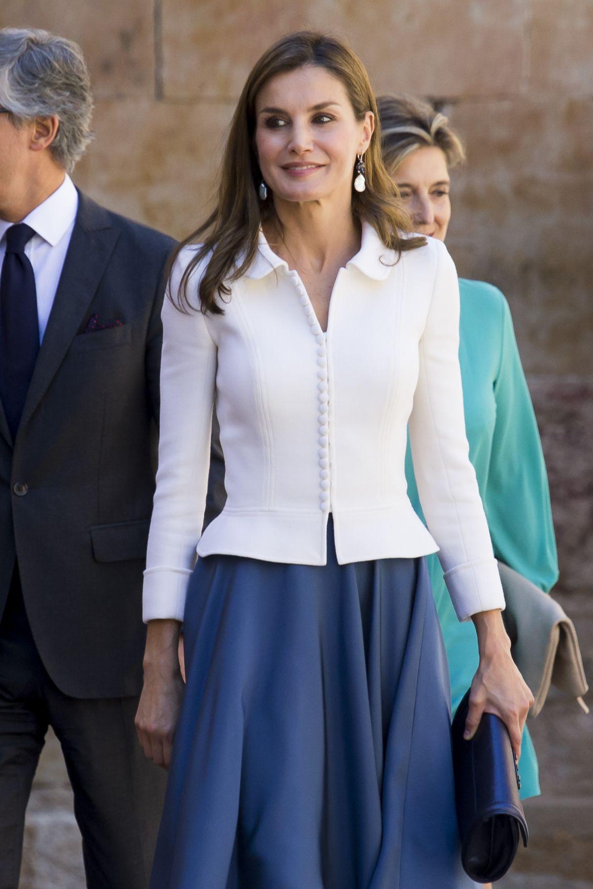 QUEEN LETIZIA OF SPAIN Scholar College Year Opening at Salamanca University 09/14/2017