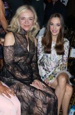 RACHEL BAY JONES and LAURA OSNES at Dennis Basso Fashion Show at New York Fashion Week 09/11/2017