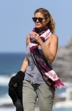 RACHEL HUNTER Out at Bondi Beach in Sydney 09/20/2017