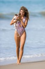 RACHEL MCCORD in Swimsuit at a Beach in Malibu 09/24/2017