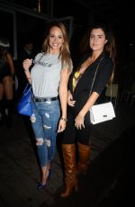 RHIAN SUGDEN and HELEN WOODS at El Diablo Bar Launch in Manchester 09/22/2017
