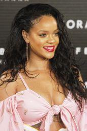 RIHANNA at Fenty Beauty by Rihanna Launch in Madrid 09/23/2017