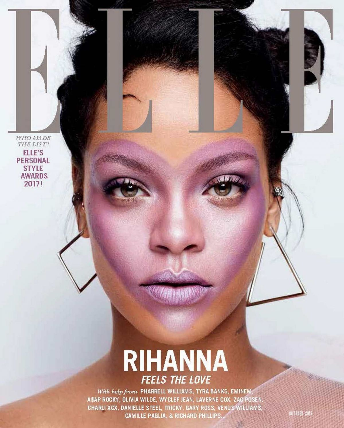 RIHANNA for Elle Magazine, UK October 2017