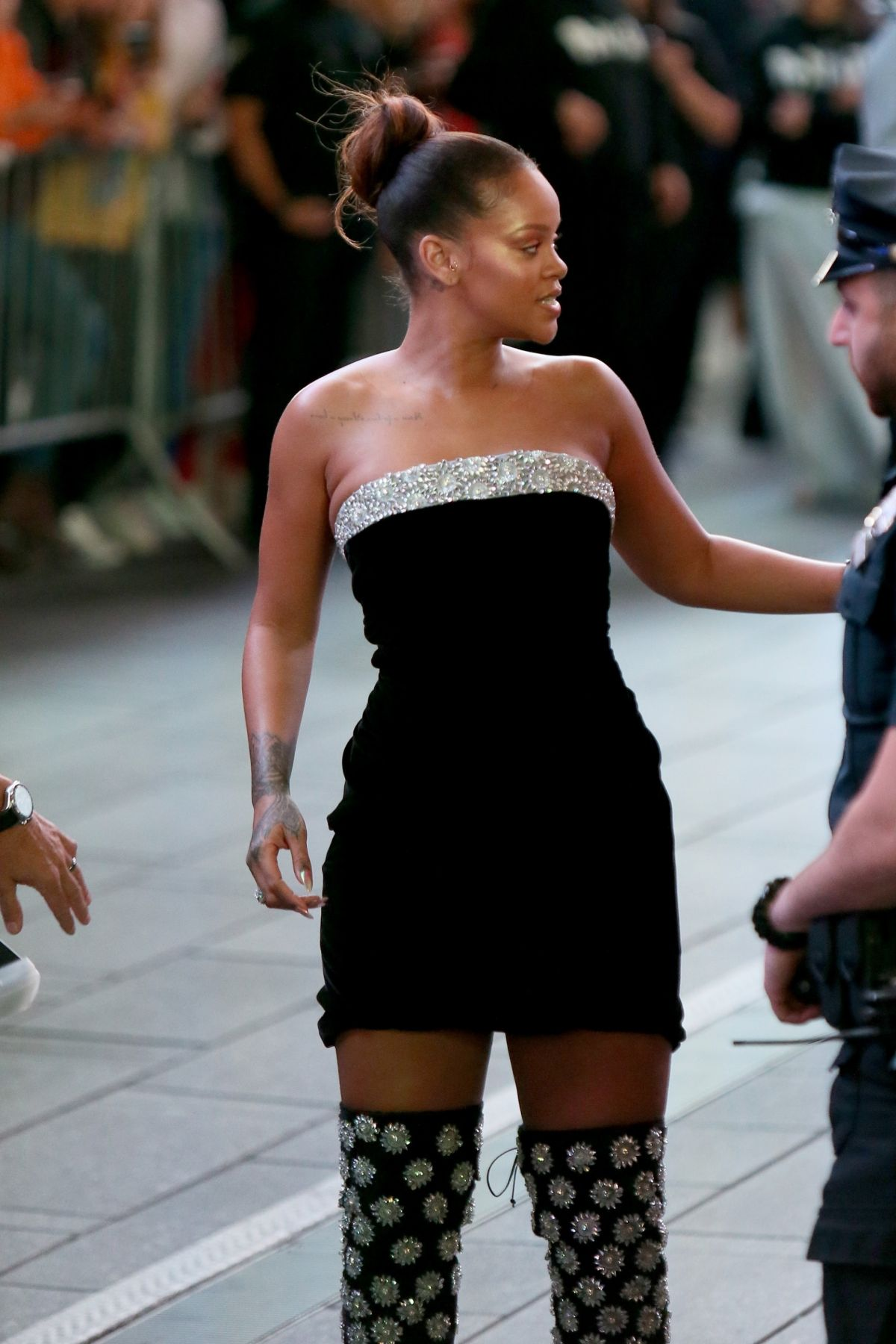 RIHANNA Heading to Sephora in New York 09/07/2017
