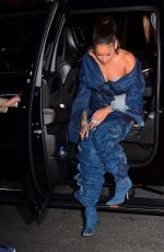 RIHANNA Out and About in New York 09/08/2017