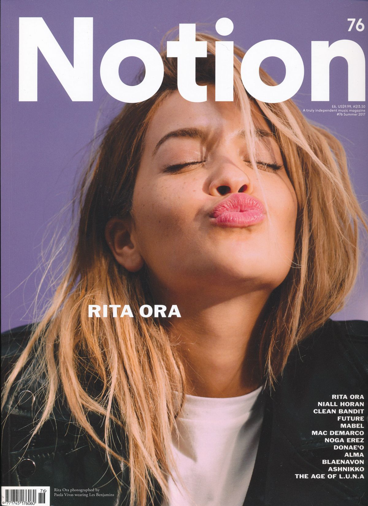 RIT ORA in Notion Magazinem, Issue 76