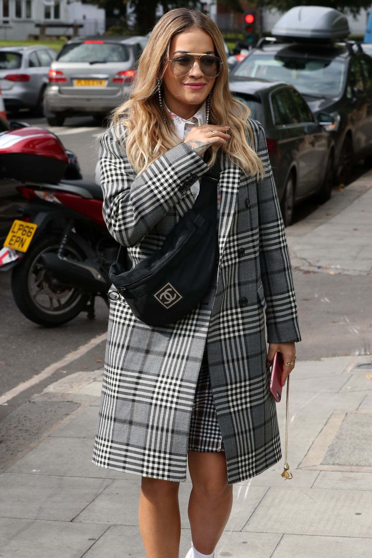 RITA ORA Arrives at BBC Radio1 Studios in London 09/18/2017