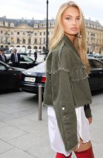 ROMEE STRIJD Out at Paris Fashion Week 09/29/2017