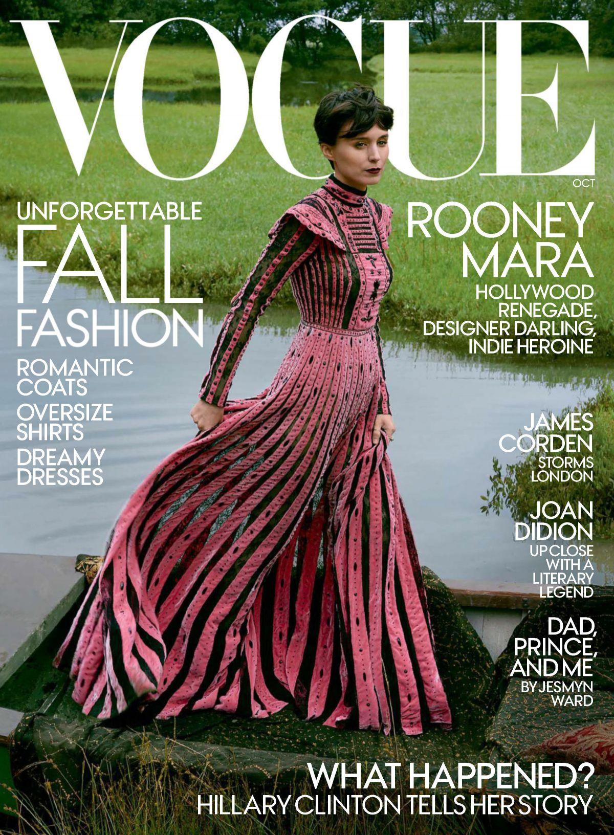 ROONEY MARA for Vogue Magazine, October 2017
