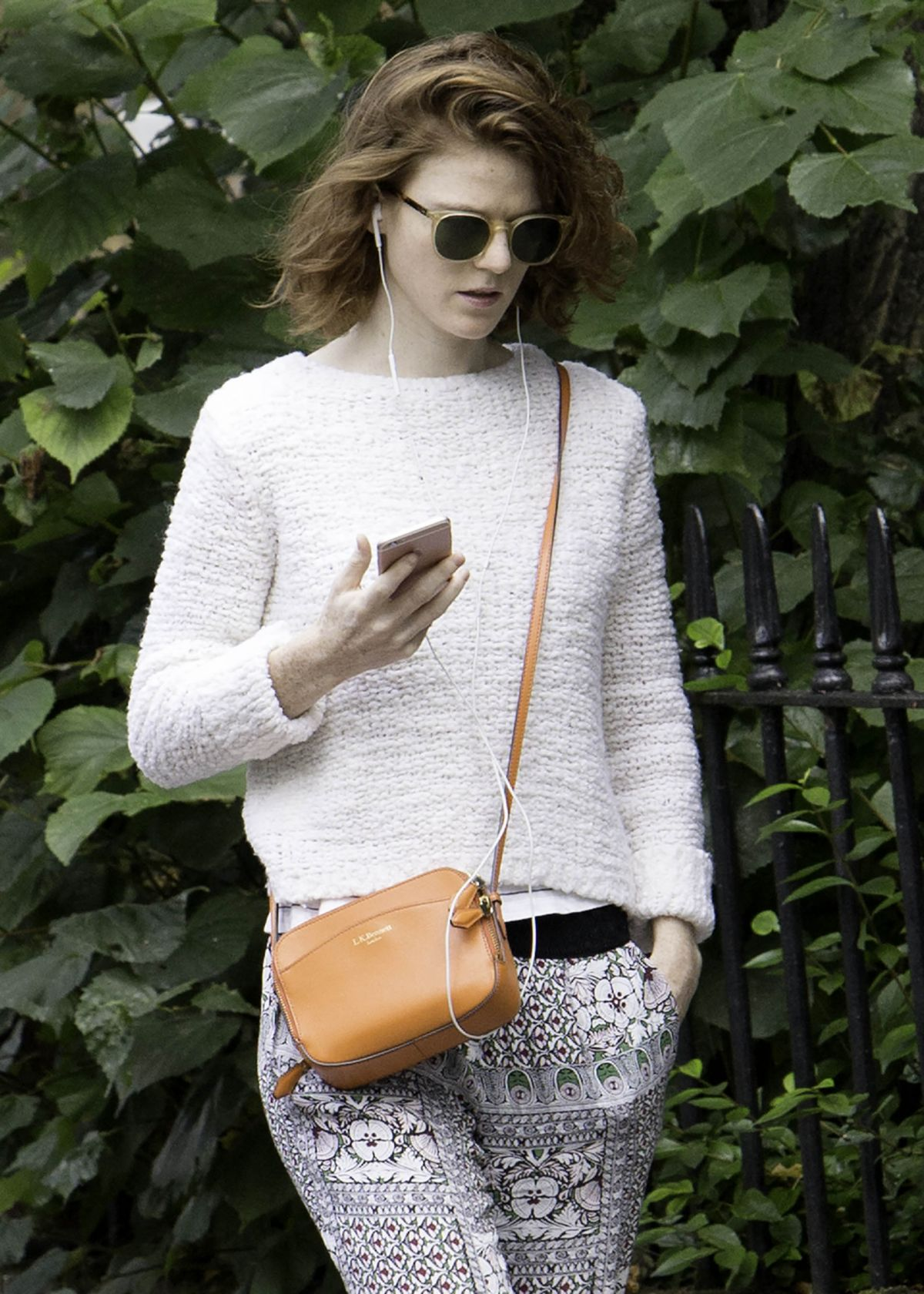 ROSE LESLIE Out and About in London 09/01/2017