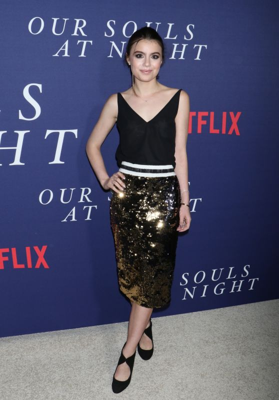 SAMI GAYLE at Our Souls at Night Premiere in New York 09/27/2017