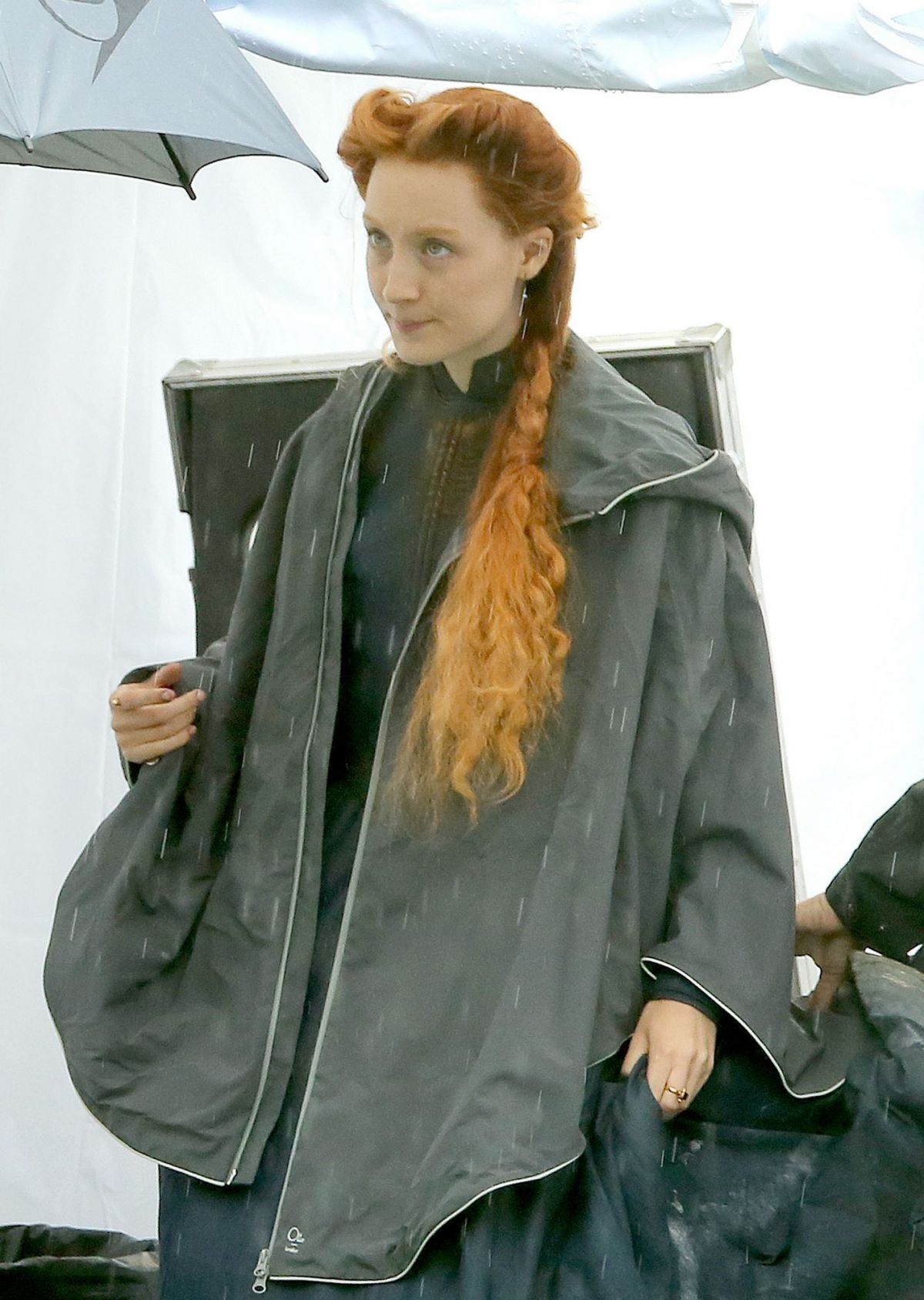 SAOIRSE RONAN on the Set of Mary Queen of Scots in London 09/05/2017