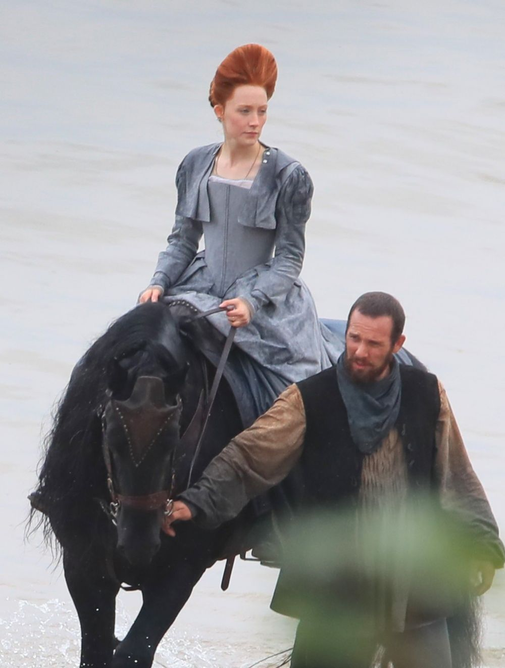 SAOIRSE RONAN on the Set of Mary Queen of Scots in Scotland 09/11/2017