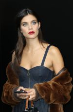 SARA SAMPAIO Leaves Dolce and Gabbana Fashion Show in Milan 09/24/2017