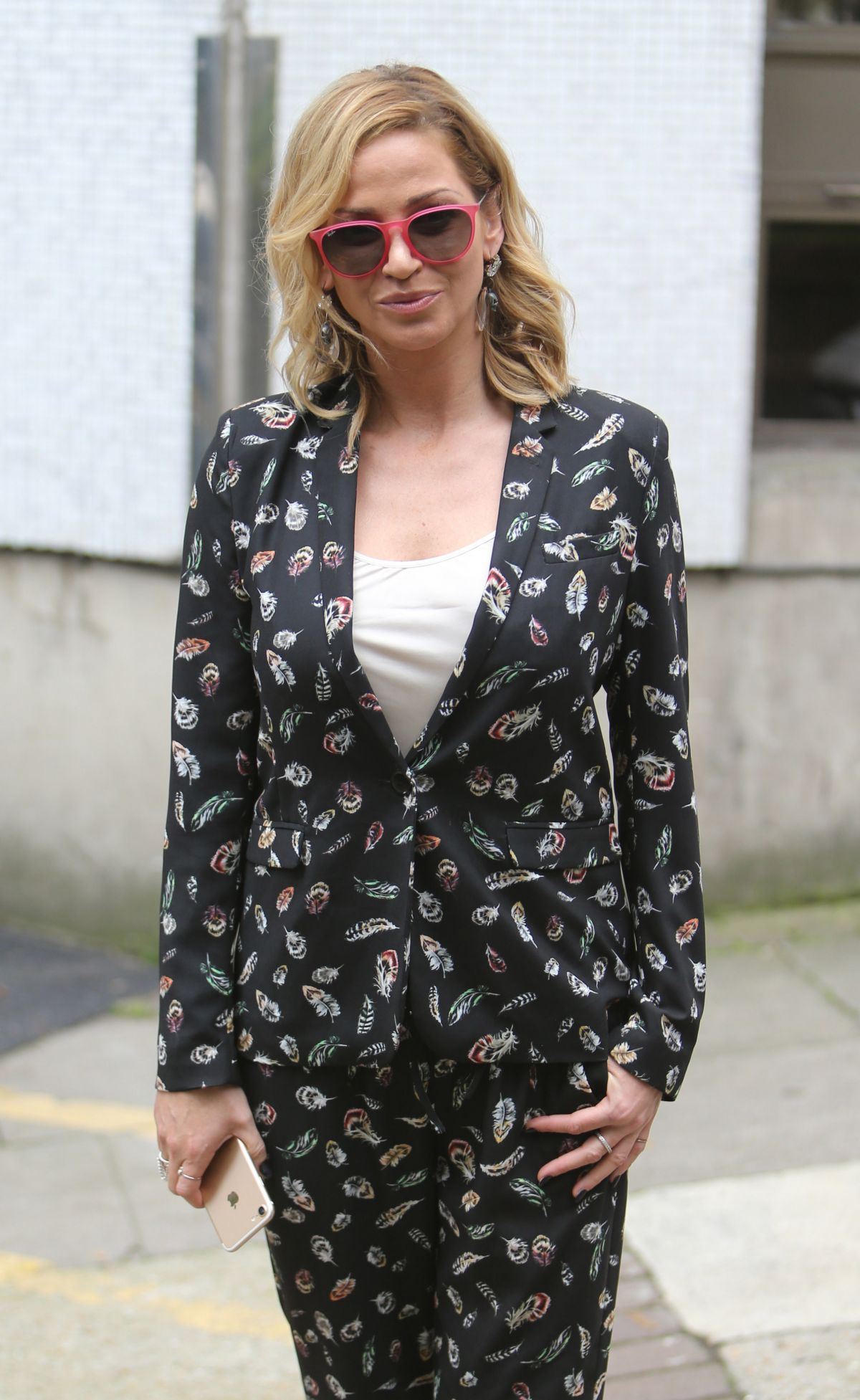SARAH HARDING Arrives at ITV Studios in London 09/05/2017