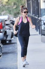 SARAH HYLAND Arrives at a Gym in Los Angeles 09/01/2017